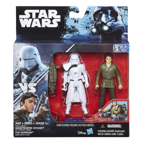 Star Wars The Force Awakens  Snowtrooper Officer & Poe Dameron Deluxe Pack